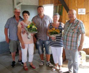 Großer Dank galt den Ausrichtern der Tagung, Familie Dietz (li) und Familie Gottfried (re)