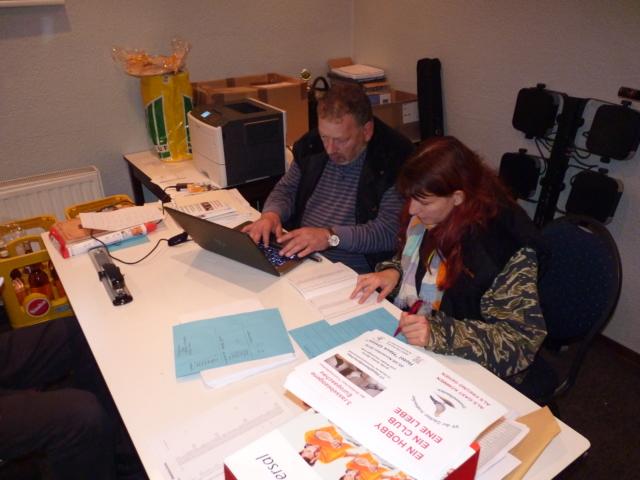 Claudia Beilicke bei der Ermittlung der Europameister.