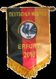 Wimpel für die Deutschen Meister 2016 der Rassetaubenzucht