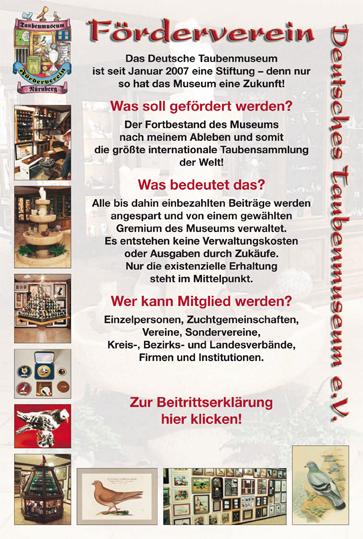Förderverein Deutsches Taubenmuseum in Nürnberg