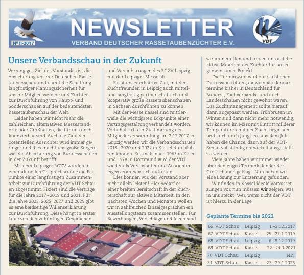 VDT Newsletter 2-2017