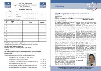 King-Club Deutschland, Einladung Jungtierbesprechung 2017, Seiten 4 und 1
