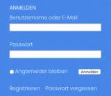 Anmeldefenster VDT-online.de