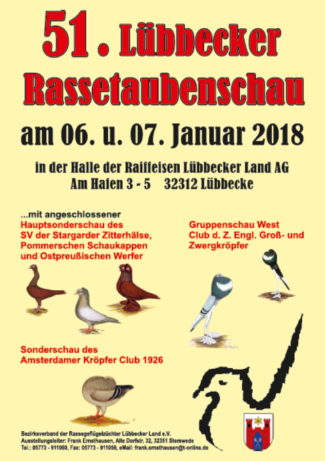 51. Luebbecker Rassetaubenschau